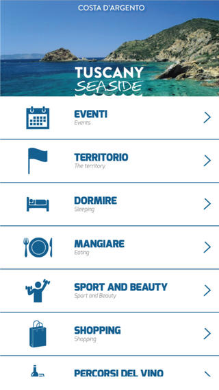 Il menu di tuscany seaside